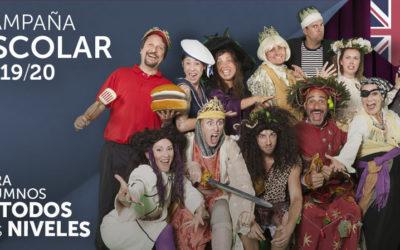 Campaña escolar teatro en inglés 2019/20 Face 2 Face diseña una completa programación para centros educativos y culturales