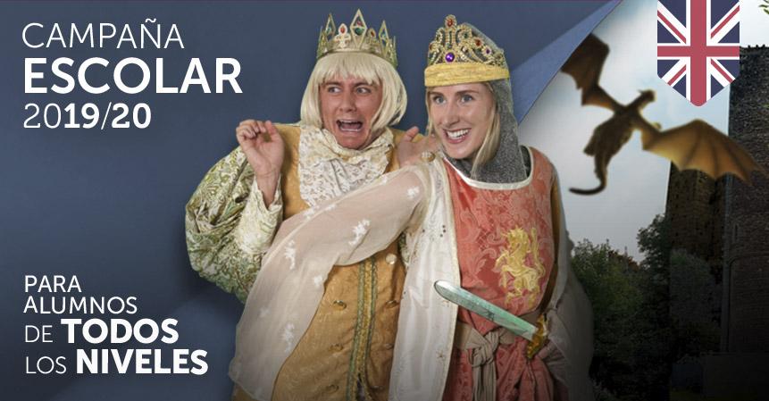 campaña escolar, obras de teatro en ingles para colegios face 2 face