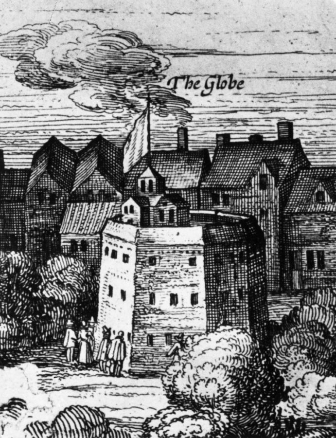 1616, The Globe Theatre at Bankside, London. (Photo by Hulton Archive/Getty Images)