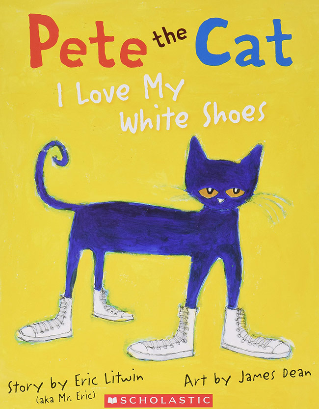 pete the cat i love my white shoes, eric litwin