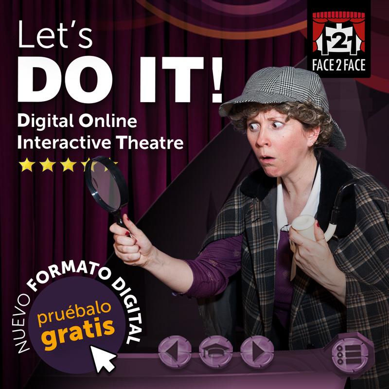 Campaña escolar digital teatro en ingles