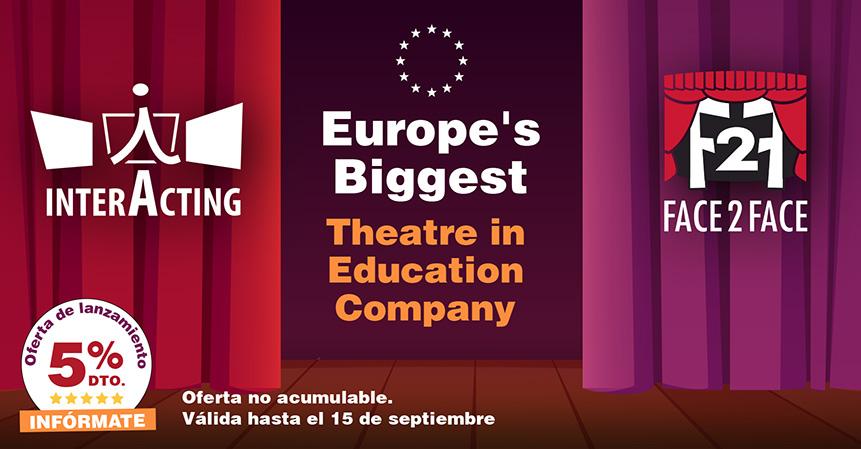 Face 2 Face & InterActing se fusionan y crean la empresa de teatro educativo más grande de Europa